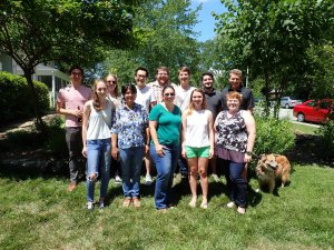 Shelly Gaynor and researchers from NSF REU at the University of Missouri.
