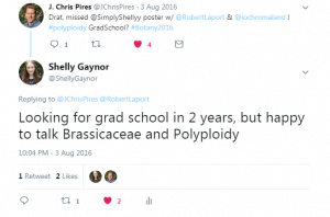 Twitter is great for networking in certain fields, including Botany.