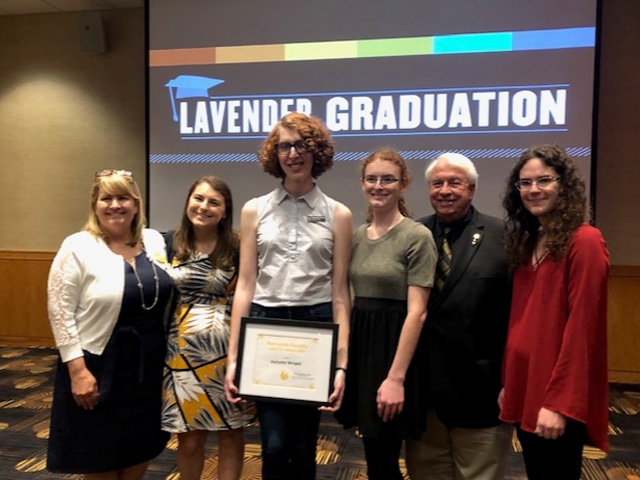 2019-20 Scholarship Recipient Autumn Wright (center) and members of the Ferrante Family